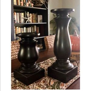 Pottery Barn Set of 2 Large Pillar Candle holders